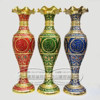 Wholesale Islam display arts and crafts Muslim Hui nationality Pakistan craft metal vase scriptures