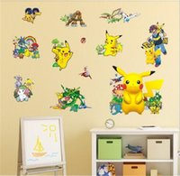 Wholesale Poke PVC Wall Stickers cm D Cartoon Wall Poster Home Christmas Decoration Kids Gift Children Room Wallpapers Wall Decor Decals