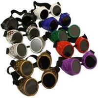 al por mayor goggles steampunk-gafas CALIENTE cibernéticos Steampunk Goth de soldadura gafas de sol de la vendimia cosplay rústicos para al por mayor hombres mujeres niños multicolores