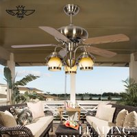 american com - Crystal Ceiling Fan Iron ventilador de teto com cristais Modern Fan Lighting American Style Home Lamp