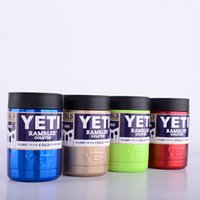 beer cans - IN STOCK Newest Multi colors oz Stainless Steel Colster can Yeti Coolers Rambler Colster YETI Cars Beer Mug Insulated Koozie oz Cups