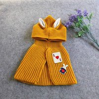 Wholesale Solid color Baby knited cloak Girls boys cape High quality infant baby Smocks outwear hoodie for T Children s clothing