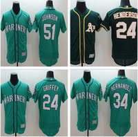 Wholesale 2016 New Ken griffey jr jersey Cheap Seattle Mariners Ichiro Suzuki Felix Hernandez Baseball Jersey Stitched Blue Green White