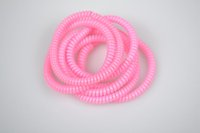 assorted elastic cord - 100 Assorted Color Hair Accessories Headband Telephone Cord Elastic Hair Jewelry Ponytail Holders Hair Ring Silicone Rubber Bands