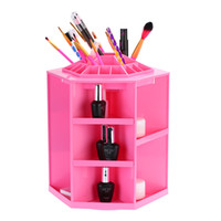 Wholesale Cosmetic Organizer Makeup Storage Box Sundries Display Box Degree Rotation Large Capacity up to Items DIY DHL W2092