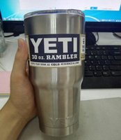 Wholesale NEW Stainless Steel oz Yeti Cups Cooler YETI Rambler Tumbler Cup Vehicle Beer Mug Double Wall Bilayer Vacuum Insulated ml