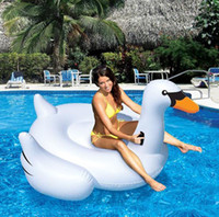 Wholesale Adult Kids Leisure Inflatable Boats Float Line Swan Flamingos Variety Design Swimming Laps Hot Summer Water Sports Supplies