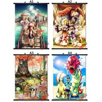 Wholesale Home Decor Poke mon Wall poster for Kids Rooms bedrooms Pikachu Wall Decal Wall Art Wallpaper zza147
