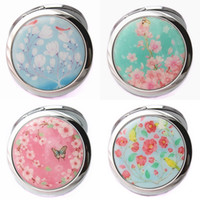 Wholesale Round Flower Pattern Makeup Mirror Cosmetic compact Mirror Perfect Women Gift