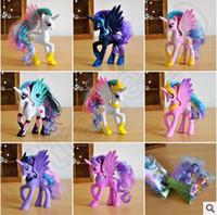 Wholesale 10 Style My Little Pony PVC cm Princess Celestia Luna Cadance Ponies Toys Action Figure Anime Minifigu Doll With Opp Bag CCA4749