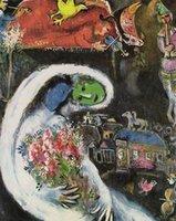 Купить Марк шагал-Женщина с голубыми ЛИЦЕ, 1960 Марка Шагала, высококачественной натуральной масляной живописи расписанную абстрактного искусства на холсте заказной размер