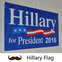 Wholesale New Fashion During the presidential campaign cm flag Hillary flag American flag B0599