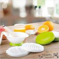 Wholesale 8Pcs Multifunctional Baby Food Grinding Set Vegetable Juice Making Bowl Fliter Kit Colorful Kid Food Mills Supplement