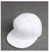 Wholesale Fashion plain solide color plain baseball cap Street Dance hiphop hat for unisex Adjustable Snapback Cap