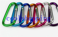 Wholesale Outdoor Sports Multi Colors Aluminium Alloy Safety Buckle Keychain Climbing Button Carabiner Camping Hiking Hook