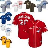 american league - Yellow white blue grey Josh Donaldson Authentic Jersey Youth Toronto Blue Jays All Star American League BP Cool Base