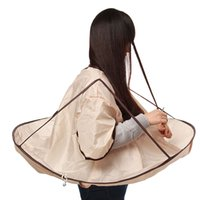 beauty salon capes - 1pcs Waterproof Adult Hair Cutting Fold Umbrella Cape Salon Barber Hairdressing Gown Beauty Tools