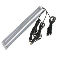 Wholesale New Arrival USB Switch Adjustable CM W SMD LED Rigid Strip Hard Bar Light Tube Lamp DC5V