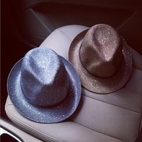 Wholesale 2016 spring and summer sun hat female fashion wild sequined thong female small hat England visor bell
