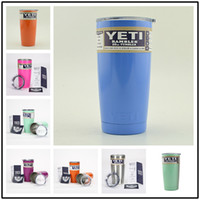 Wholesale Hot Colors YETI oz Stainless Tumbler oz Clear Lid Rambler Cups Yeti Coolers Cup Yeti Sports Mugs Large Capacity Stainless Mug