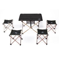 Wholesale Aluminium Alloy Ultra light Portable Folding Table Foldable Outdoor Camping Picnic Desk g H11599