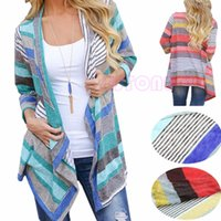 Wholesale Boho Womens Long Sleeve Cardigan Loose Sweater Outwear Knitted Jacket Coat Tops Hot Sale women clothes
