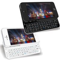 apple iphone keyboards - Hight Quality New Ultra Thin Backlit Wireless Slide out Phone Case Bluetooth Keyboard Case Cover For iPhone S quot Black White