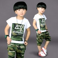 baby and children fashion wear - Small and medium sized children s wear children s children clothing fur camouflage two piece kids thanks cottons2016 baby boy s short sleeve