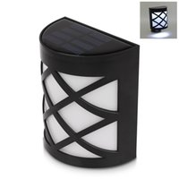 yard fence - waterproof solar wall lamps ABS Solar LED Path Light Outdoor Garden wall lightings Yard Path Fence Lamp LEDs