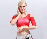 Cheap 2016 Women sexy black tribal belly dance tops dancing practice costume set on sale NMMT123