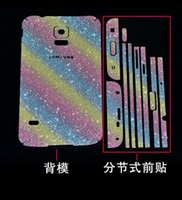Wholesale Luxurious Bling Diamond Glitter Sticker Shiny Front Back Side Stickers For Samsung Galaxy S7 S6 Edge Plus S6 Note
