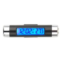automotive voltmeter - New in1 Car Auto LCD Clip on Digital Backlight Automotive Thermometer Clock Voltmeter hot selling
