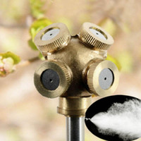 Wholesale New Brass Spray Misting Nozzle Garden Sprinklers Fitting Hose Water Connector Hole