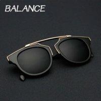 balance sun - BALANCE New Retro So real sunglasses Original Cat Eye sun glasses Vintage Brand Designer men women Coating Glasses UV400 color
