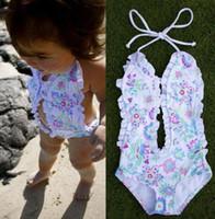 baby swim clothes - 2016 Baby Girls Bikini Floral Split Tankini Swimsuit Bathing Suit Swimming Clothes UK