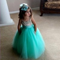 beaded handicrafts - Perfect Handicraft Girls Pageant Dresses Spaghetti Straps Beaded Rhinestone Flower Girls Dress Ball Gowns For Special Occasion