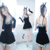 animated black cats - Manufacturers selling new animated cartoon sexy cat ladies lingerie uniform temptation