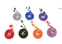 Wholesale 1M Nylon Braided Wire Micro USB Cable Sync Fabric Nylon cell phone Charger Cords for i phone