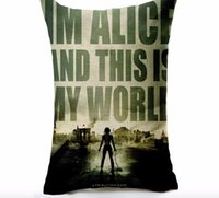 Wholesale I am Alice this is my world Resident Evil hero Classic memory pillow massager decorative movie pillows euro cover home decor
