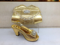 african celebrations - Westernrain Gold Shoes and Bag From Italy African shoes and bag with Set for Wedding and Celebrations Wedding Dress of High Quality shoes