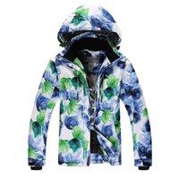 Wholesale Hot sale Female snowboard ski suit jacket clothes windproof waterproof Beautiful large flowers