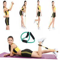 Wholesale New Yoga Resistance Bands Yoga Chest expander Yoga pull rope Figure Exercise and Fitness Supplies ABS Fitness Equipments