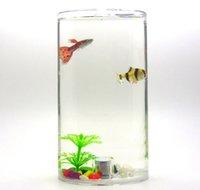 Мини аквариум аквариум аквариум светодиодные изменения цвета света для отправки рыбы пищевой цвет камня пластика анти падение будет нести сумку бесплатный корабль Не отправляйте рыбу