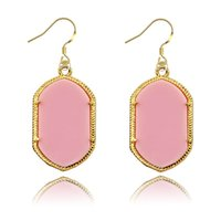 women earrings lot - 120pcs Gold Plated Fashion Black Earrings for Women Lady Kendra Jewelry Classic Style Acrylic And Natural Stone Dangle Earrings eb