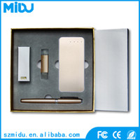 bank giveaways - 5000mAh Portable Power Bank Charger G USB Flash OTG Disk Metal Pen Giveaways Gift Set Items