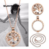 Wholesale stainless steel jewelry mm diy coin holder chain complete set engraved Mi moneda fashion diamond coin locket necklace