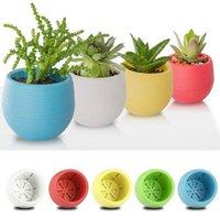 Wholesale Plastic Flower Pot Succulent Plant Flowerpot For Home Office Decoration Color Garden Supplies