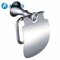 Wholesale AZOS Wall Mounted Toilet Paper Holders Bathroom Accessories Shower Hardware Components Chrome Polished Finish Silver Color GJKE2105L