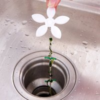 Wholesale Kitchen Bathroom Shower Drain Wig Chain Cleaner Hair Clog Remover Cleaning Tools