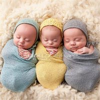 Wholesale 20 color Newborn Baby photography photo props Crochet Wraps Basket Stuffer blanket Parisarc Robes Wrapped Yarn Cloth B933